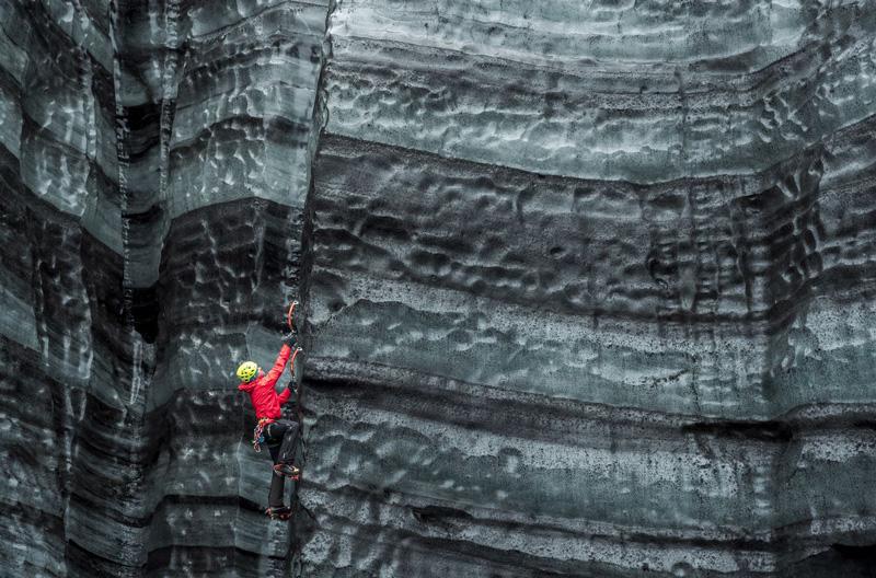 Jose Allende Marcos fotograf poza ghetar Mýrdalsjokull Viktor Mýrdal alpinist