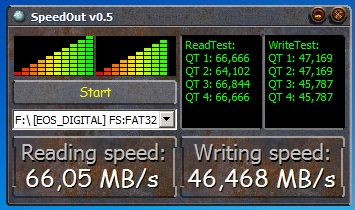 test viteza card memorie sd sandisk extreme 32gb