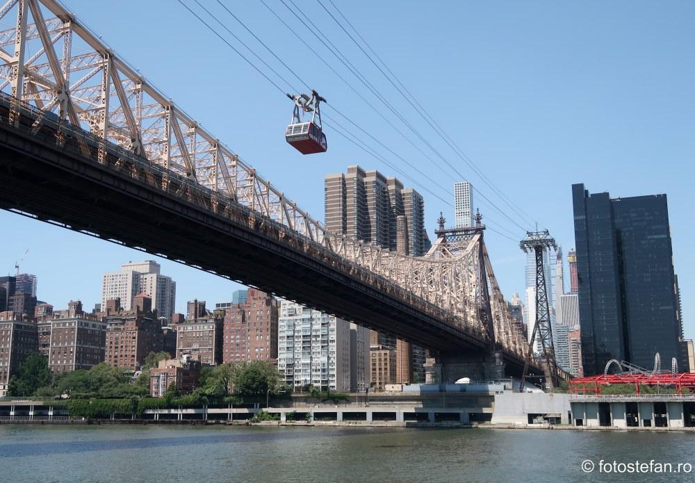 poze Roosevelt Island Tramway telecabina New York fotografii america Ed Koch Queensboro Bridge
