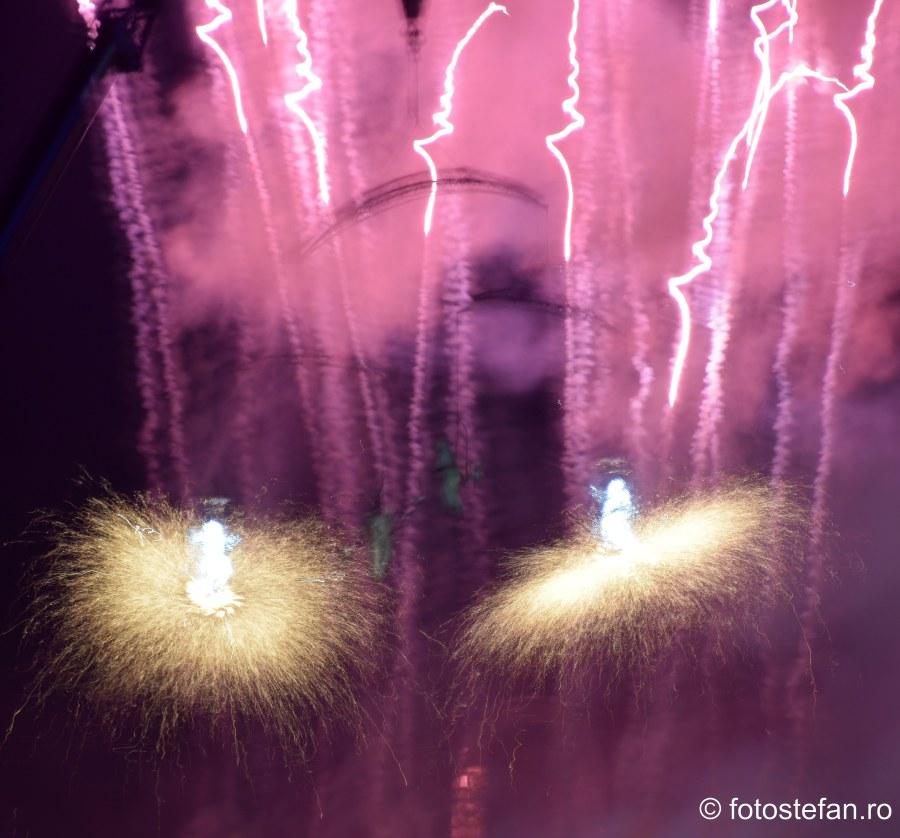 poze artificii acrobatie aeriana parcul carol bucuresti ziua frantei