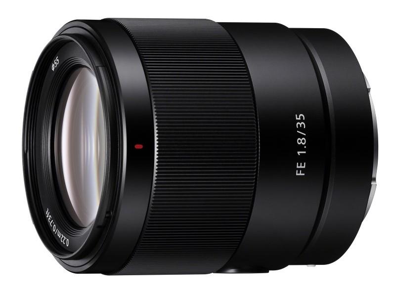 Sony FE 35mm F1.8 poza obiectiv aparat foto mirrorless