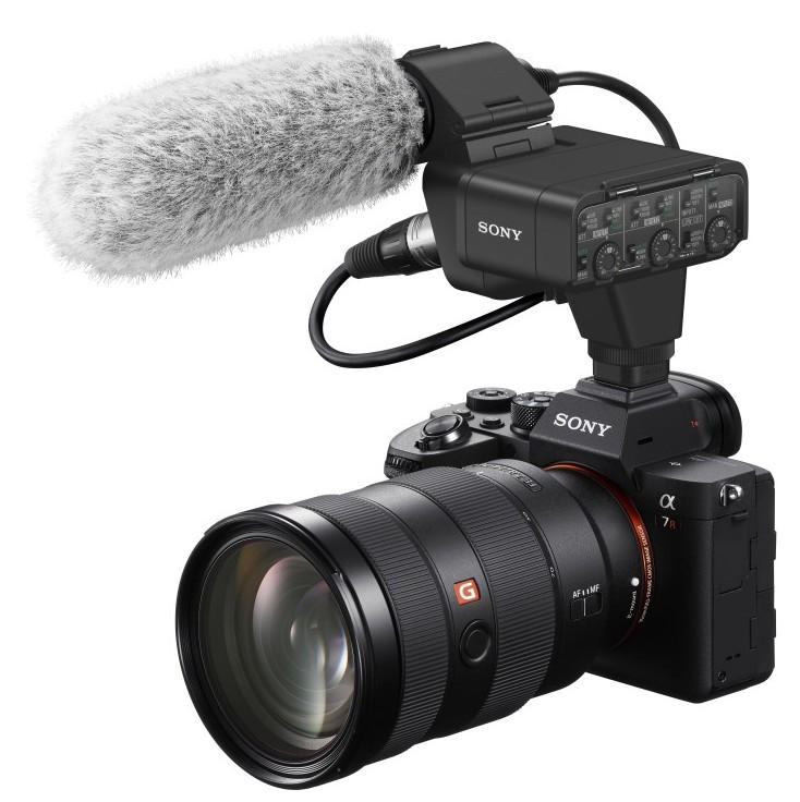 poza aparat foto mirrorless profesionist microfon