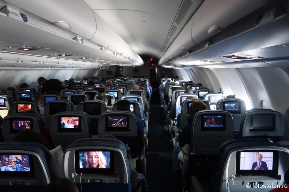 poza interior avion transaltlantic calatorie avion america sua
