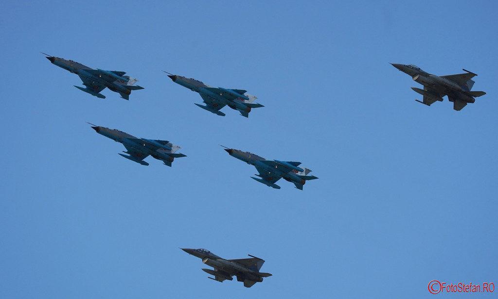 Bucharest International Air Show poze mig 21 lance f-16 fighting falcon roaf