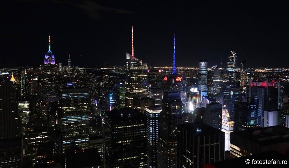 poze seara new york #TopoftheRock vacanta