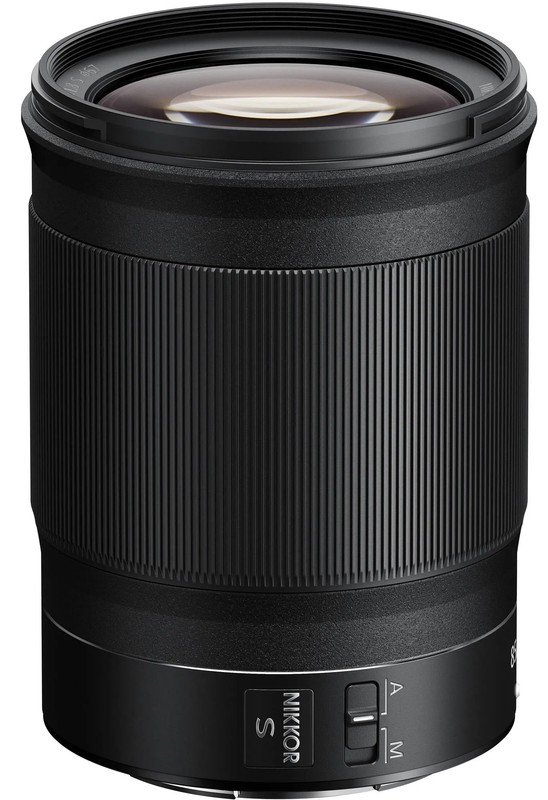 Nikon Z 85mm f/1.8 poza obiectiv nikon z