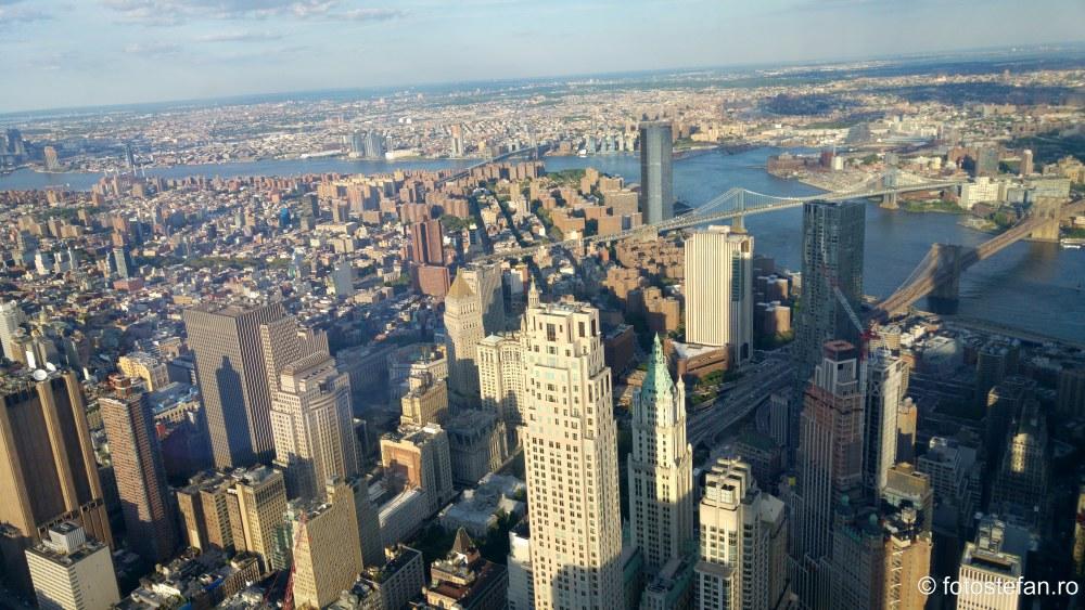 manhattan vazut din Freedom Tower calatorie america sua