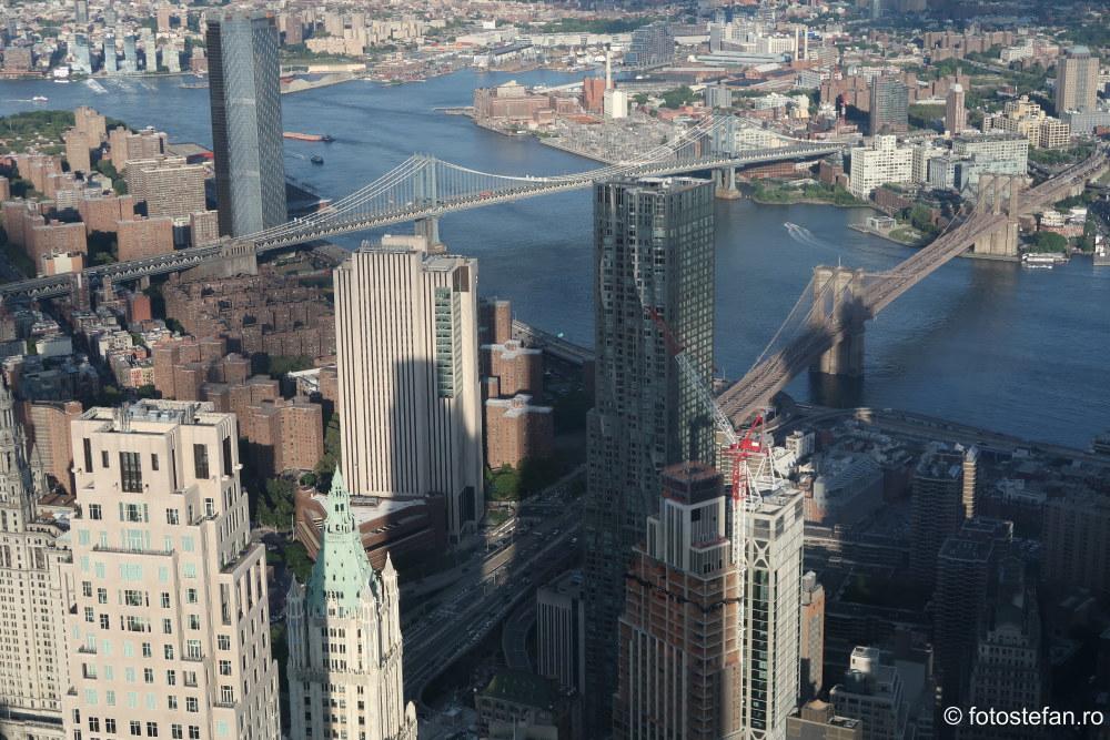poza brooklyn bridge vazut din One World Observatory