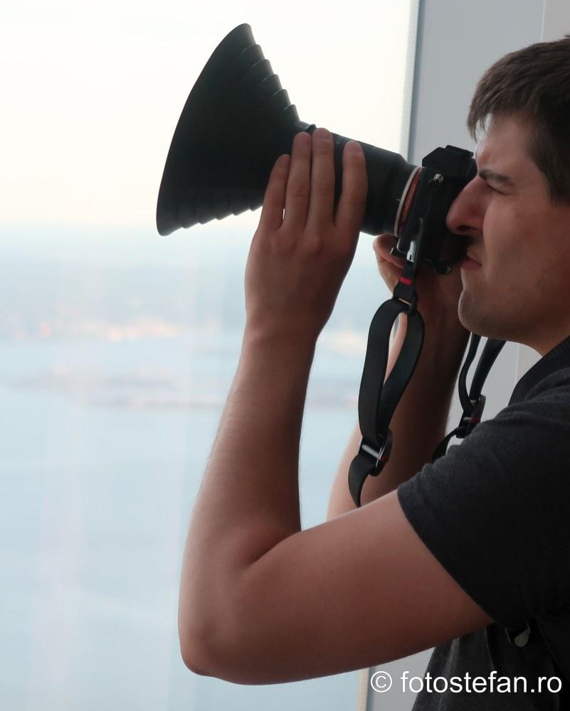 cum sa fotografie prin geam