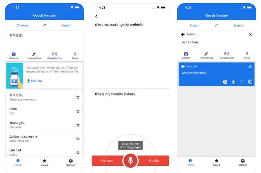 aplicatie gratuita traducere Instant Camera Translation telefonul mobil calatorii
