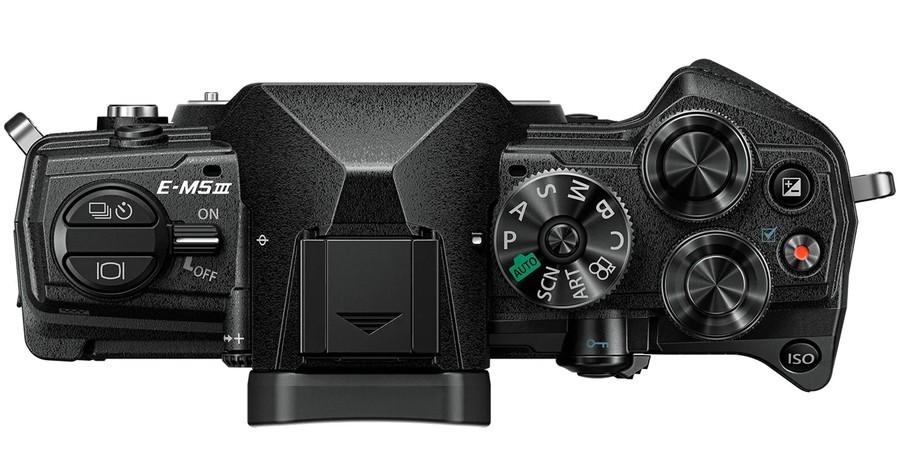 poza aparat foto Olympus OM-D-E-M5 Mark III negru