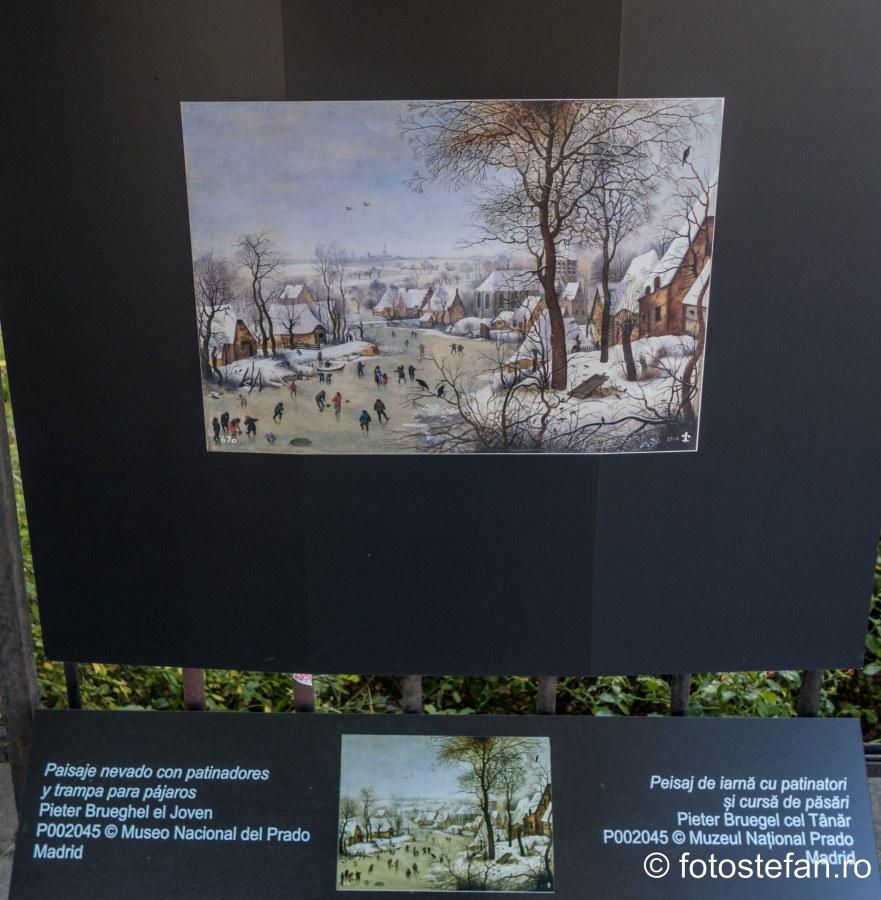 poza tablou peisaj iarna patinatori muzeul national prado
