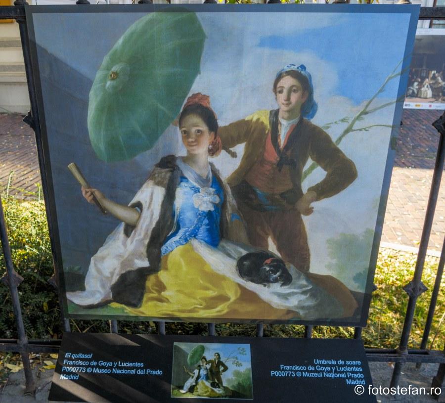 poza tablou umbrela de soare muzeul prado bucuresti gard palatul sutu