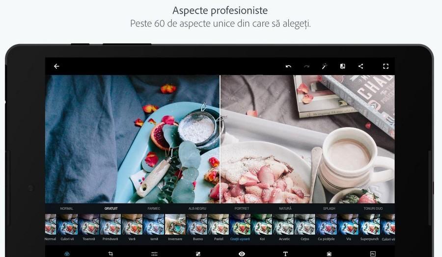 program gratui editare foto Adobe Photoshop Express