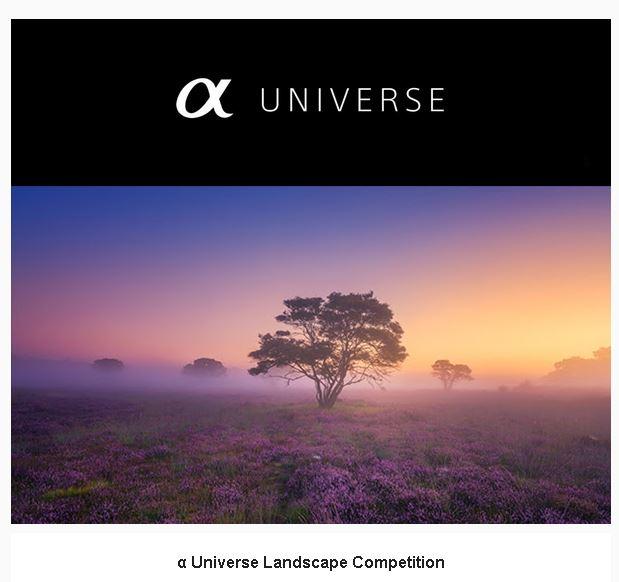 Alpha Universe Landscape Competition Instagram Sony G Master