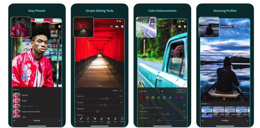 editare foto program gratuit lightroom telefon mobil tableta