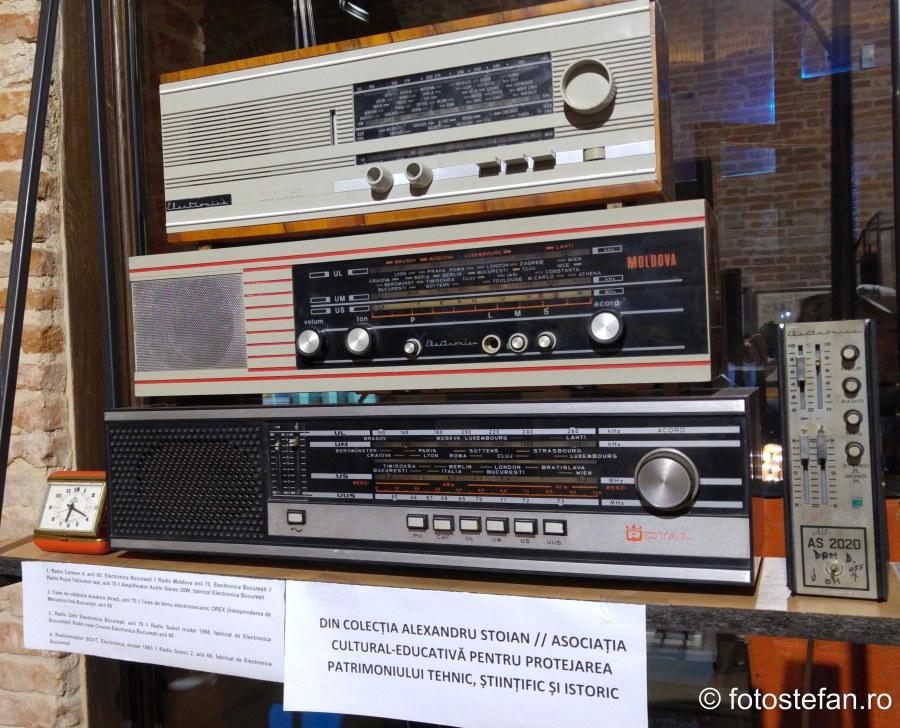 fotografie aparate radio fabricat romania expozitie arcub bucuresti