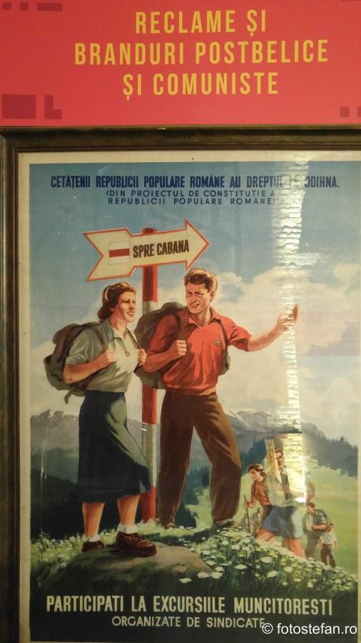 poza afis reclama propaganda comunista arcub bucuresti