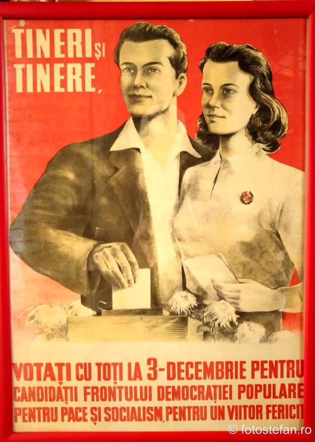 poza afis fotografie reclama propaganda comunista