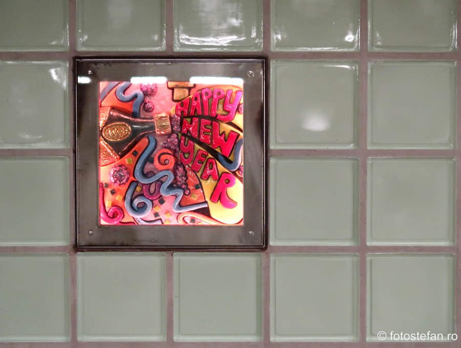poza mozaic peron metrou new york america