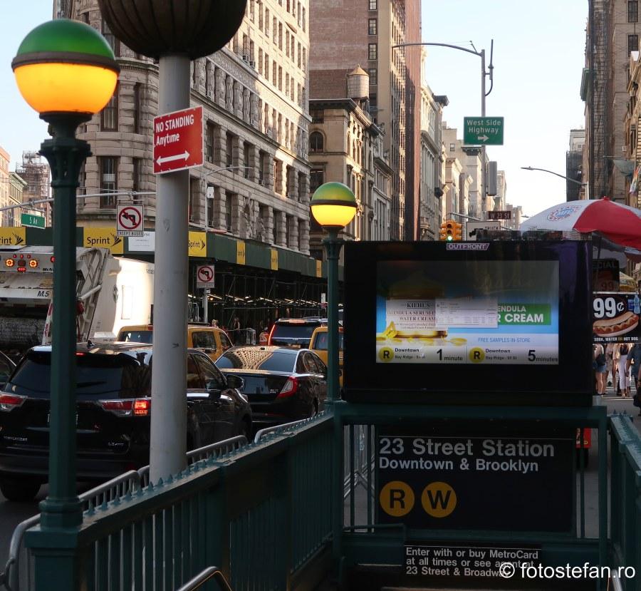 Metroul din New York statie felinar lampa
