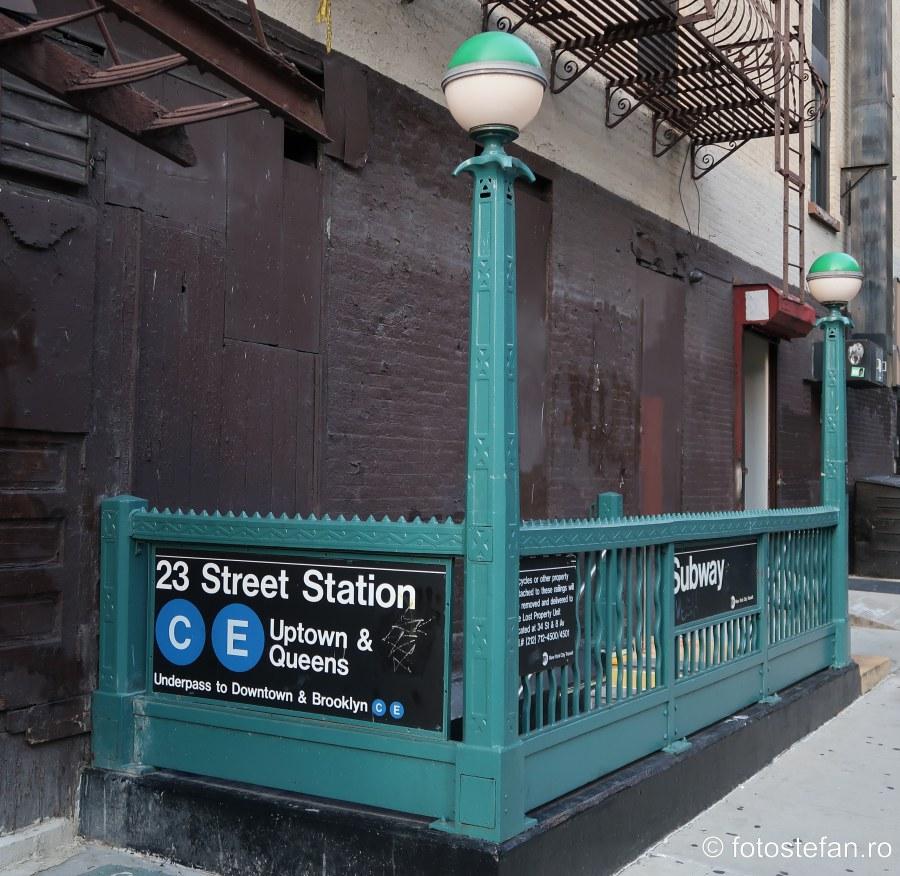 fotografii transport public new york intrare metrou
