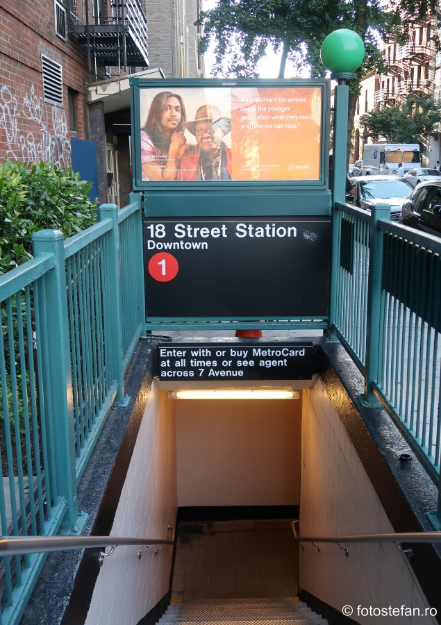 poze intrare statie metrou new york calatorie america