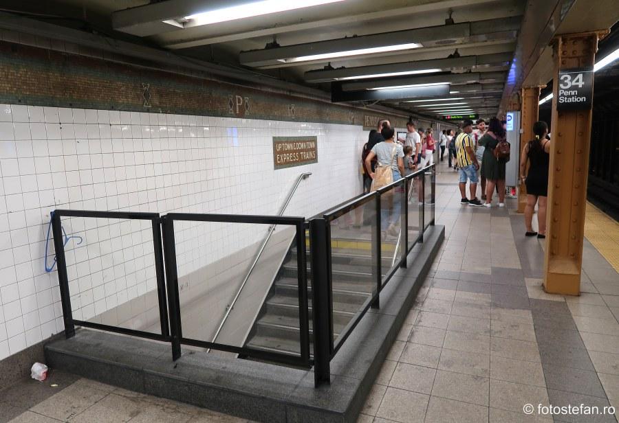poze peron metroul din new york america