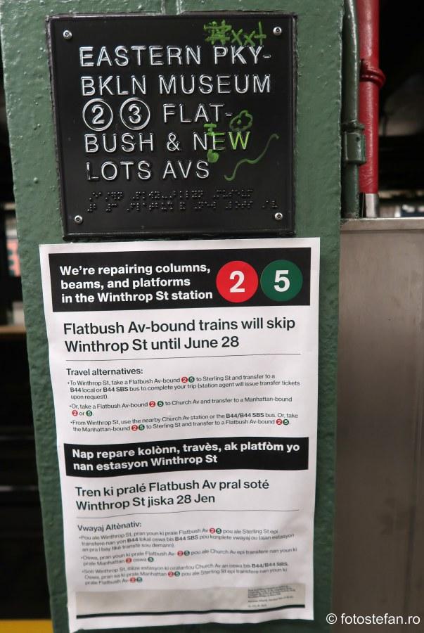 fotografie afis informatii metrou new york sua calatorie