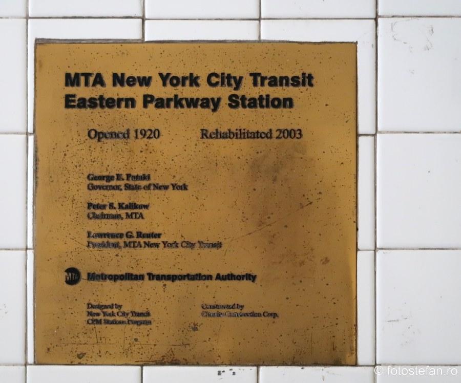 fotografie placa comemorativa contructie statie metrou new york 1920