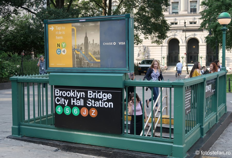 poza intrare metroul din new york america