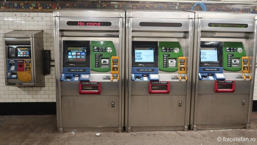 poza automate vanzare cartela metrou new york america
