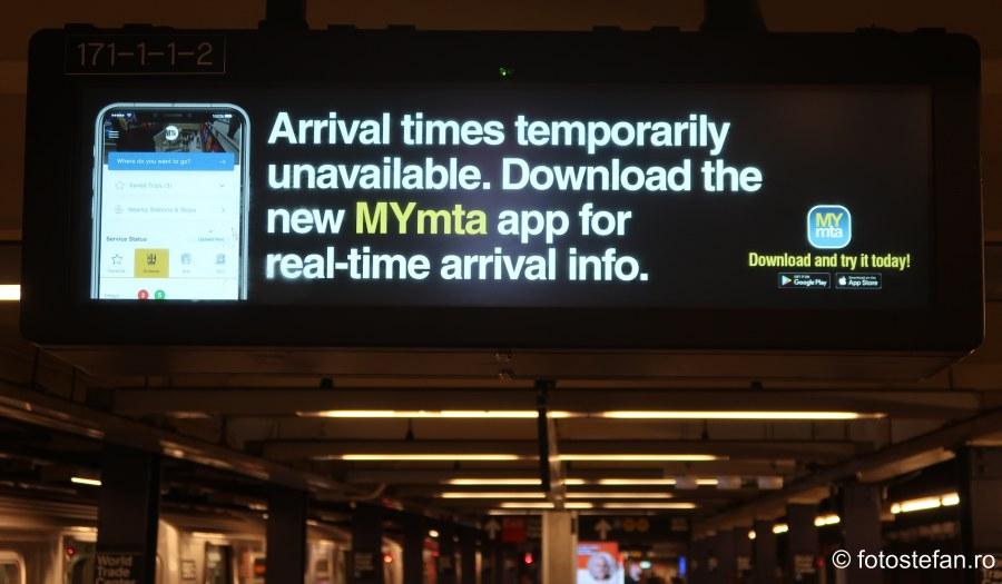 poza reclama aplicatie gratuita transport metrou new york