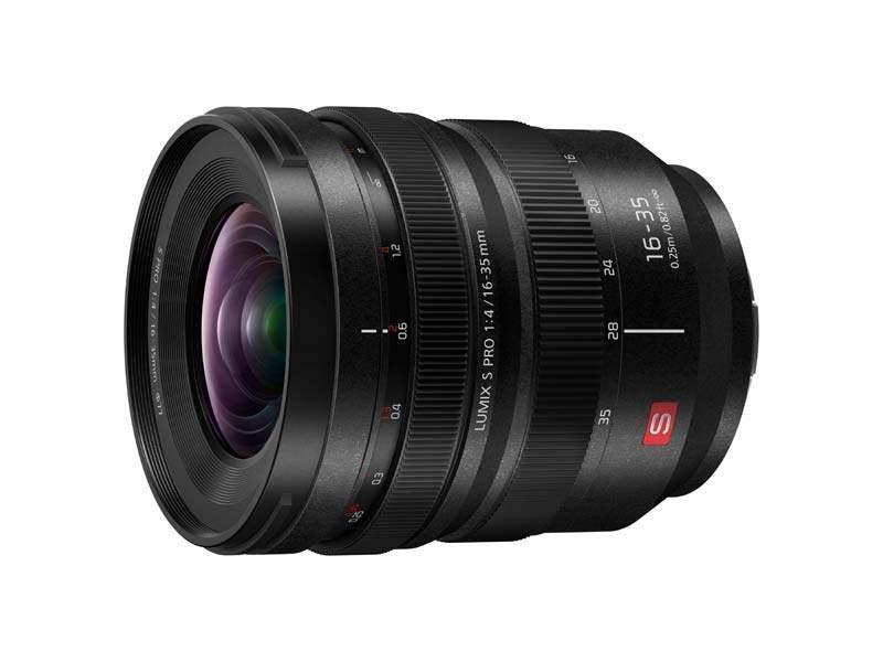 poza obiectiv aparat foto mirrorless panasonic Lumix S PRO 16-35mm F4 (S-R1635)