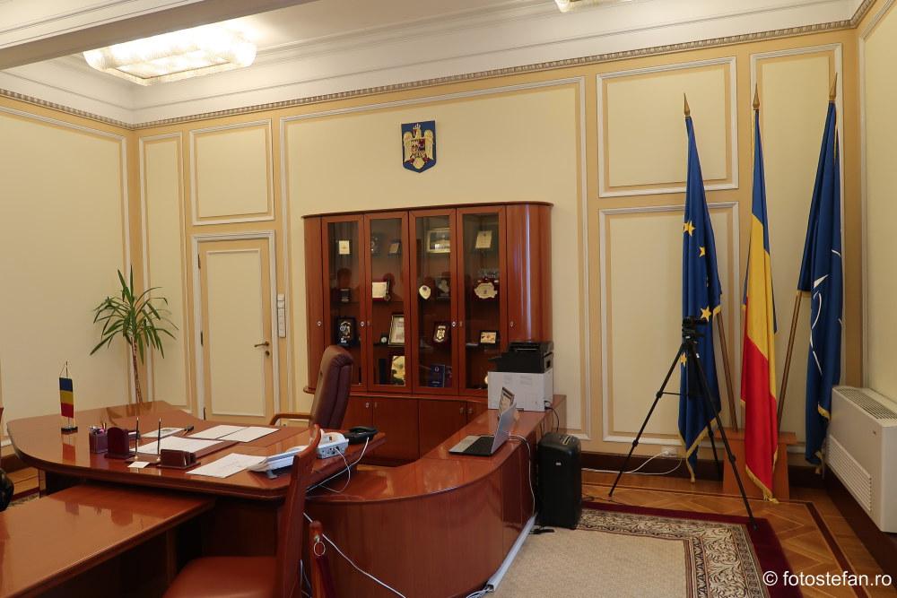 poza birou nicolae ceausescu cc pcr bucuresti