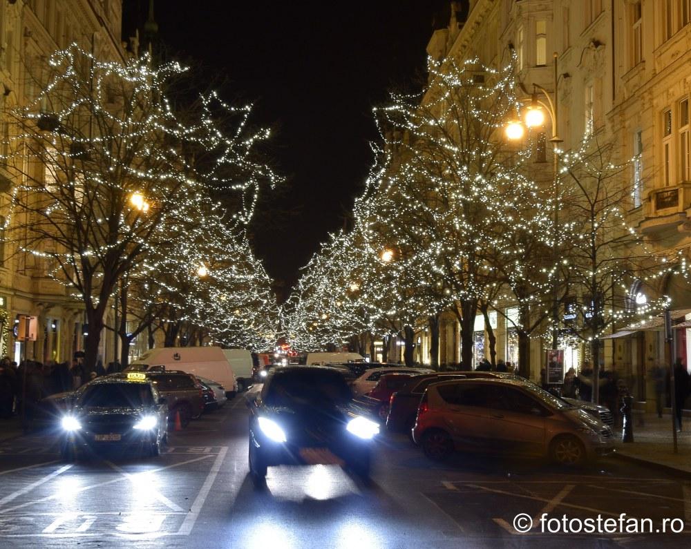 fotografii luminite lumini craciun praga