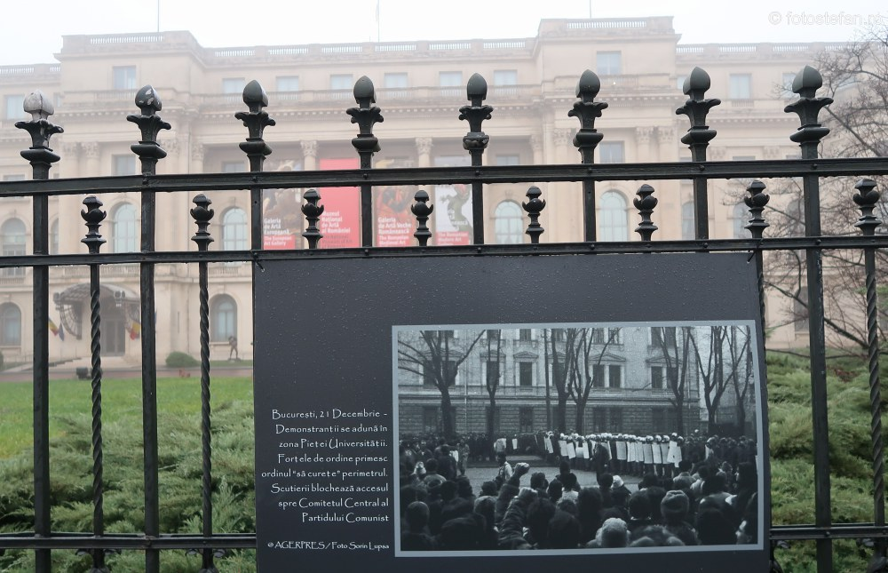 Evenimentele din decembrie 1989 expozitie foto bucuresti agerpres gard mnar