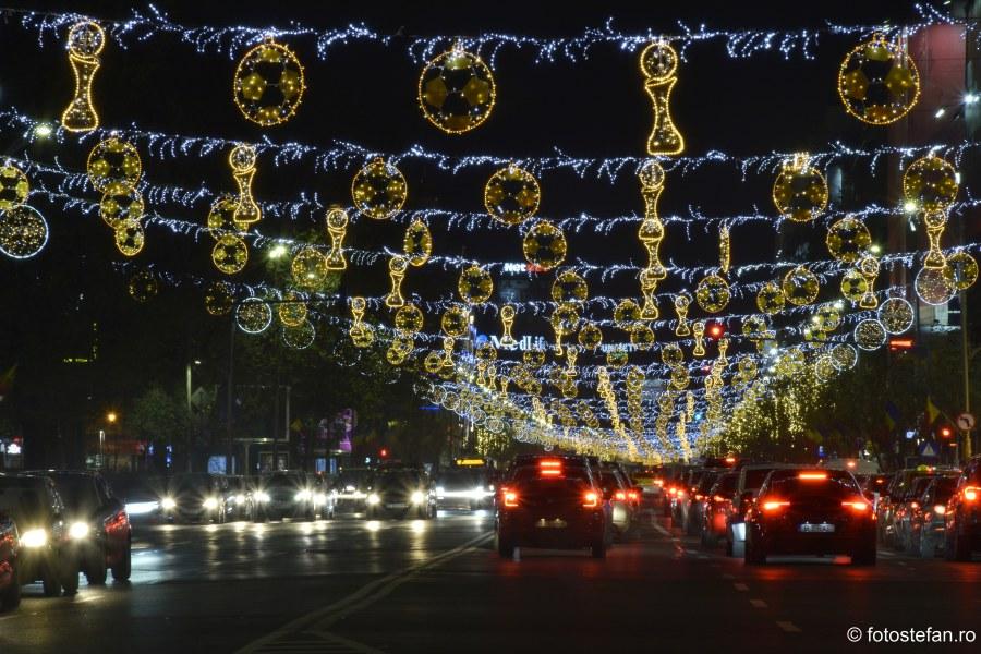 poze Luminite de Craciun Bucuresti 2019 Romania leduri