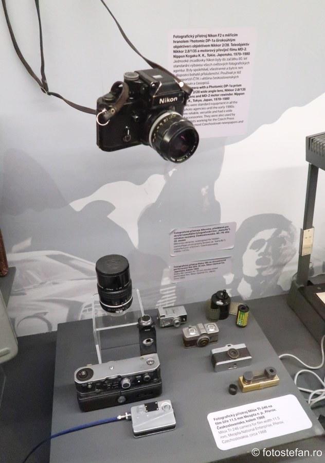 aparate foto spionaj securitatea cehoslovacia Muzeul National al Tehnicii Praga