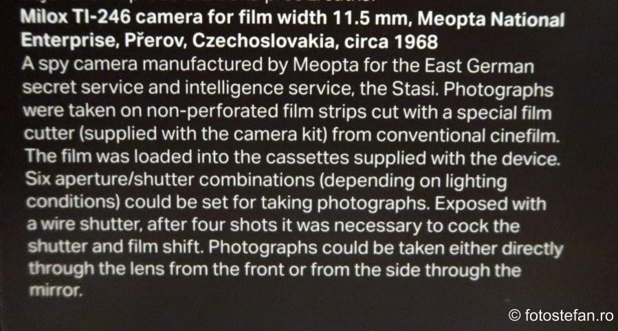 explicatii aparat foto spion Muzeul National al Tehnicii Praga obiectiv turistic