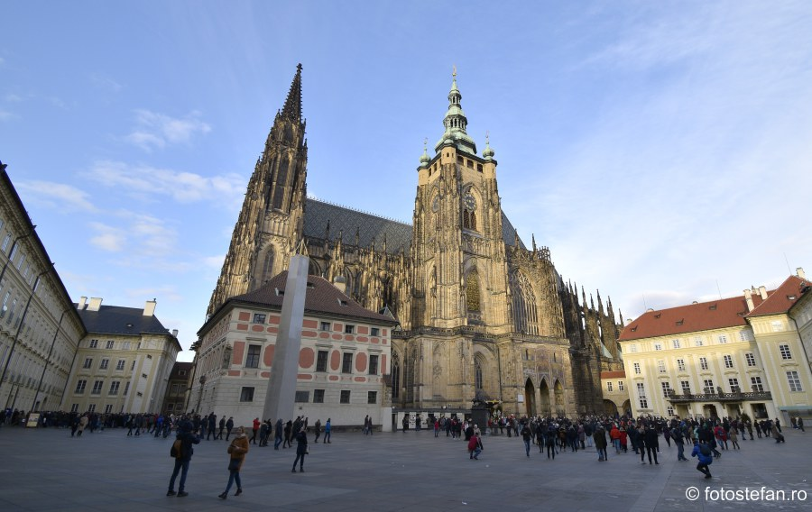 fotografii catedrala Sf. Vitus praga city break decembrie