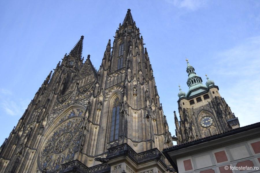 poza detaliu catedrala Sf. Vitus praga decembrie cehia