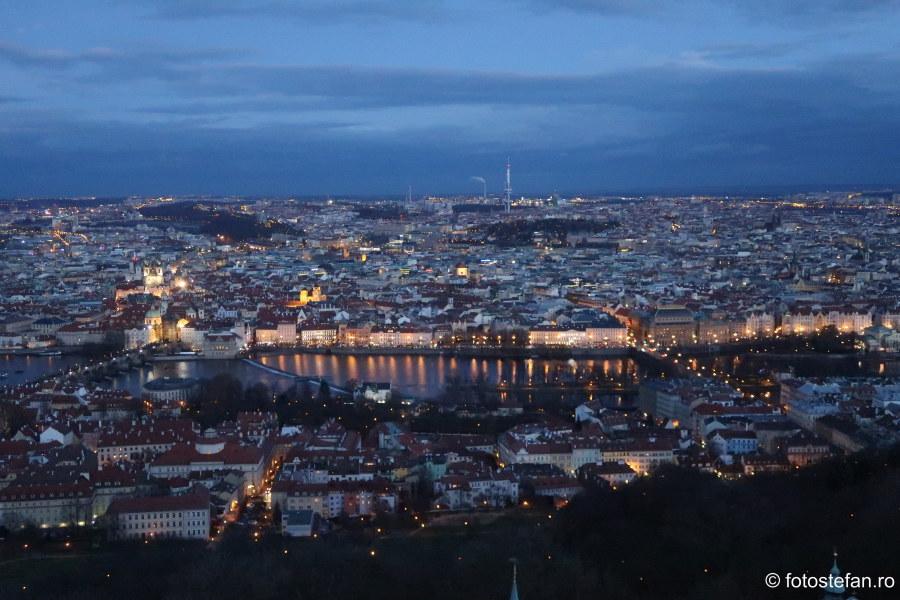 fotografii Praga vazuta de sus seara