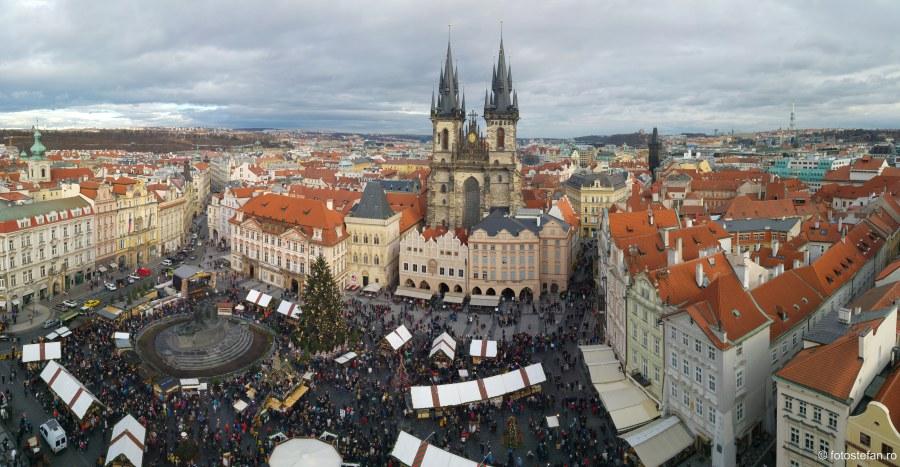 poze calatorie cehia Praga vazuta de sus