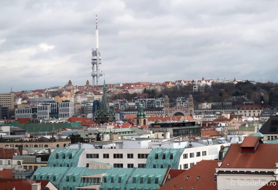 Praga Turnul de televiziune Zizkov Žižkovská televizní věž Žižkov Television Tower poze cehia arhitectura