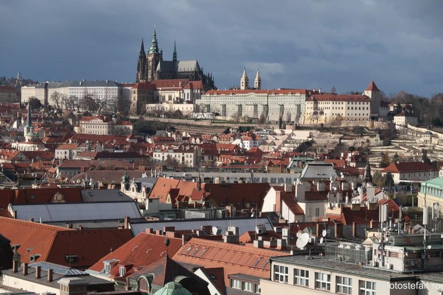Praga vazuta de sus poza calatorie city break cehia
