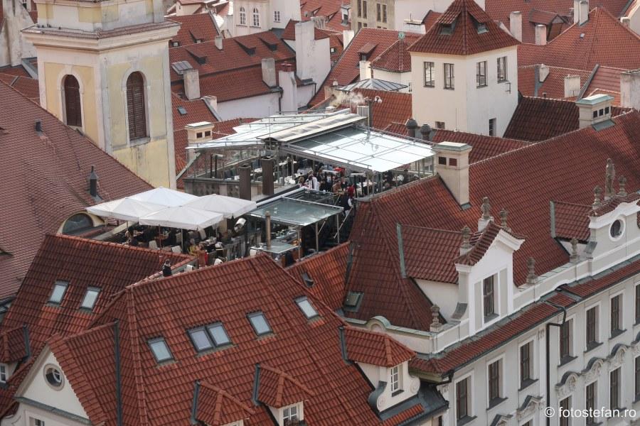 Praga vazuta de sus terasa etaj poze calatorie