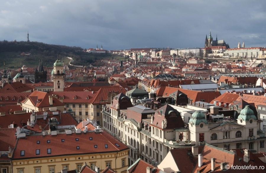 Praga vazuta de sus castel catedrala sf vitur