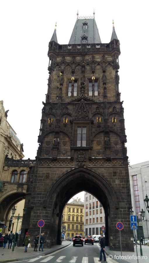 poze turnul pulberii praga centrul istoric