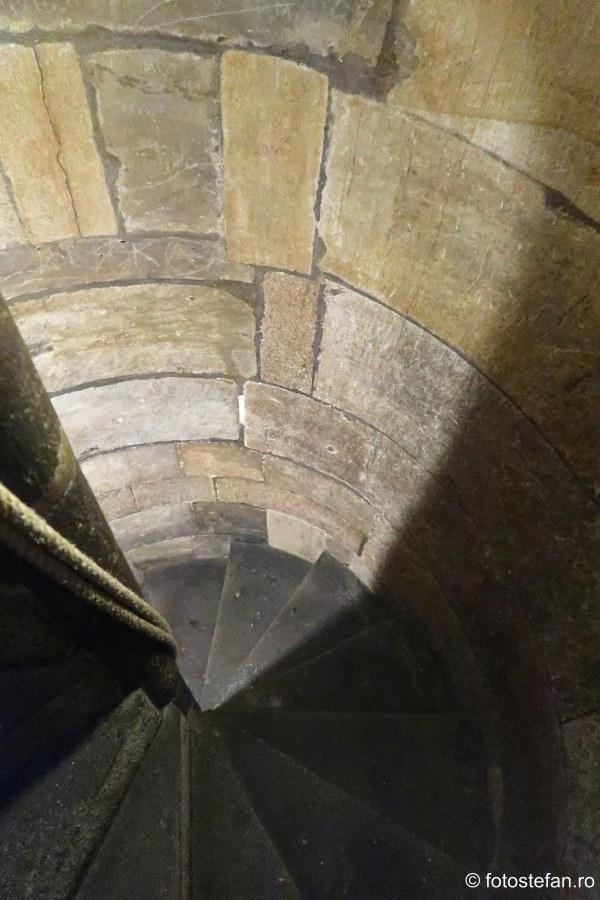 poza scari turn medieval praga cehia